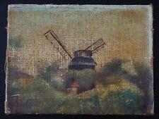 HST moulin peinture signé Old painting windmill signed A IDENTIFIER XIXème