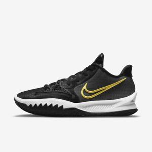 New Nike Kyrie Low 4 EP Basketball Shoes (CZ0105-001) - Black/ Metallic Gold