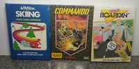 LOT OF THREE GAMES FOR ATARI 2600/5200/7800 BRAND NEW VINTAGE RARE NOS SEALED 44
