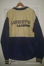 Looney's lacrosse windbreaker jacket adult Medium Coach blue gold Game Maryland