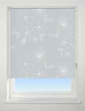 Universal Floral Cluster Patterned Thermal Blackout Roller Blind Grey W90cm