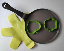 28 cm NEOFLAM extra piatte Padella profonda 2 x uova anello padelle protezione