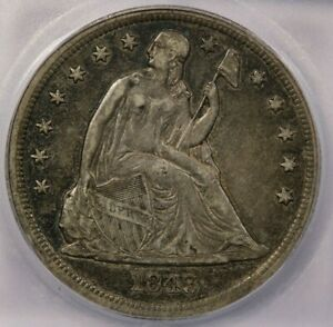 1843-P 1843 Dollar Seated Liberty $1 ICG EF45 XF45 Beautiful original coin!