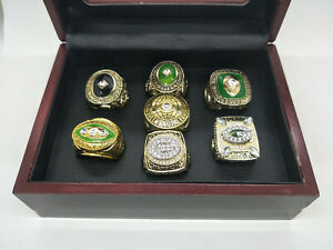 Set 7Pcs Green Bay Packers Championship Ring With Display Box Fans Gift