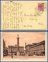 ca 1910 ITALY Postcard - Roma to Sebring, Ohio USA H3