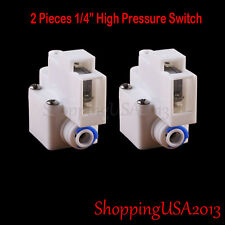"""2 Pcs 1/4"""" High Pressure Switch For Pump RO Water Fitlers Reverse Osmosis Parts"""