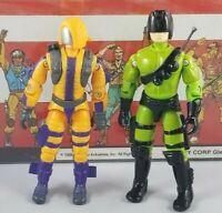 Original 1989 93 GI JOE HEAT VIPER V1 V2 UNBROKEN figure ARAH not COMPLETE Cobra