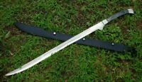 AWESOME CUSTOM HANDMADE 30.0 INCHES D2 STEEL HUNTING SWORD WITH SHEATH