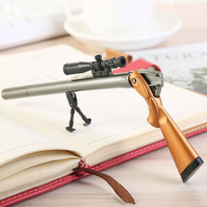 1 Pcs Plastic Rifle Gun Shape Gel Pen Kids Gift School Stationery Supplies Black