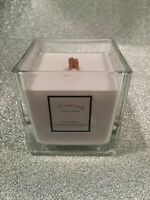 Mademoiselle Inspired By Chanel Large Cube Wooden Wick Fragranced Candle