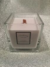 'Inspired By' Coco Chanel, Large Cube Wooden Wick Fragranced Candle