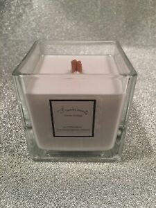 /'Inspired by/' Light Blue 50cl Fragranced Wooden Wick Candle Tall Large