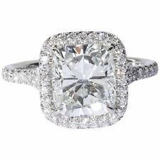 2 Carat GIA Cushion Cut Engagement Ring Set in a Delicate Handmade Setting