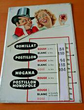 TOLE PUBLICITAIRE DE MAGASINS VINS DU POSTILLON  1950s