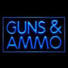 200045 Guns & Ammo Combat Paintball Bulletproof Display Led Light Sign