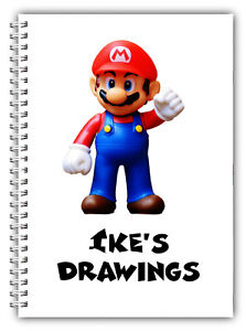 NEW A5 PERSONALISED DRAWINGS PAD/A5 SKETCH BOOK/ DOODLE PAD MARIO STAR WARS 01