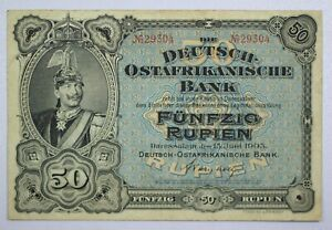 {DO404D} German East Africa 50 Rupien 1905 P-3