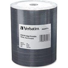 Verbatim DVD-R Inkjet Printable 4.7GB 16x 100/PK White 97016
