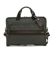 New Authentic TUMI SLIM DELUXE PORTFOLIO Gray Brown Men's BRIEFCASE Bag