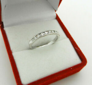 Anniversary 14k White Gold Natural 0.22 tcw Diamonds Wedding Band Ring size 7