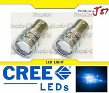 CREE LED Light 5W BAY15d 2357 Blue 10000K Two Bulbs Signal Parking Side Marker