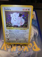 💫 Holo Bleed Clefairy - 5/102 Base Set - Pokemon Card 💫