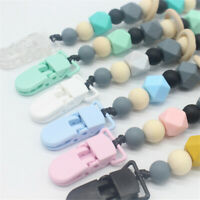 NEW Silicone  Infant  Chew Toy Pacifier Chain Baby Teething Soother Dummy Clips