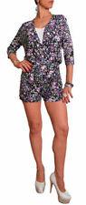 3/4 Sleeve V Neck Floral Jumpsuits & Playsuits for Women