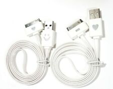2 pack-USB Data Charger Power Cable Cord LED lights for Apple iPhone 4/4S iPad