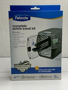Petmate Complete Airplane Travel Kit Keep Pets Dogs Cats Safe
