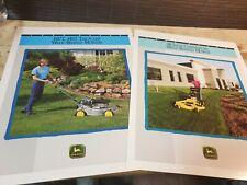 1992 JOHN DEERE Walk Behind Mowers Original Sales Leaflets