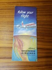 1983 VINTAGE WESTERN AIRLINES SEATING GUIDE FLYER
