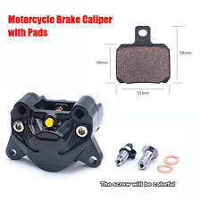 1PC Motorcycle Bike Modified Double Piston Brake Calipers With Pads Black Metal