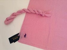 BNWT 100% Auth POLO RALPH LAUREN Pink Crinkle Lightweight Scarf. RRP £60