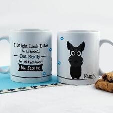 Personalised Funny Cute Scotty Black Dog Puppy Coffee Mug Tea Cup Work Gift