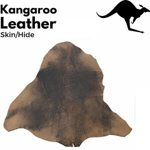 KANGAROO LEATHER SKIN HIDE Tanned Finish Natural - Stonewash