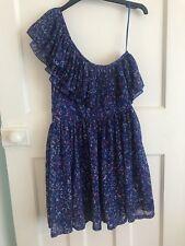 Miss Selfridge Blue Floral One Shoulder Dress Size 10