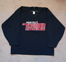Adult Large CCM Niagara Falls Thunder Black OHL Practice Hockey Jersey
