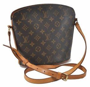 Authentic Louis Vuitton Monogram Drouot Shoulder Cross Body Bag M51290 LV E3220