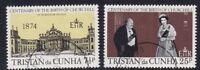 TRISTAN da CUNHA 30 NOV 1974 WINSTON CHURCHILL CENTENARY SET OF BOTH  FINE USED