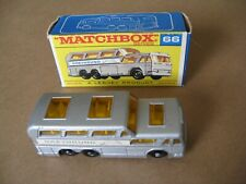 MATCHBOX SERIES No66 GREYHOUND COACH MADE IN ENGLAND 1969 LESNEY WITH BOX