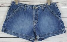 Vtg Ae Supply Co . Aeo Women's Heavy Duty Work Denim Button fly Jean Shorts Sz 6