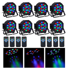 8PCS 18-LED 36W RGB Stage Lighting DMX512 Laser Protector LED Par Light + Remote
