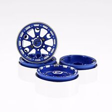 "GDS Racing Four 1.9"" Blue Alloy Beadlock Wheel Rim Wide 1"" for RC Model #094BL"