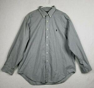 Ralph Lauren Classic Fit Striped Long Sleeve Shirt Mens Size 17 1/2 34/35