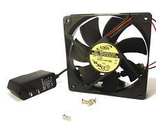 120mm 25mm DC Case 71CFM Fan AC +Adapter 110V 115V 120V Ball Cabinet 12025 1377*
