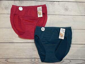 NWT 2 Jockey Women's Matte & Shine Hi-Cut Panty Size 9