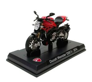 2014 DUCATI MONSTER 1200 S in Red - 1:24 Die-Cast 1200S Motorbike Model - Ex Mag