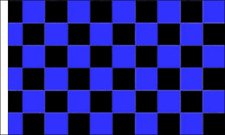 Blue & Black Check (Sleeved) Flag Banner Decoration Checkered Motor Racing Race