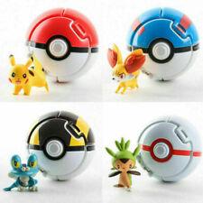 4pcs / Lot Pokemon Pokeball Toys Pikachu Battle Ball Kids Balls 7cm